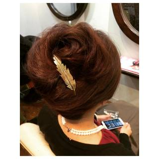 ブライダル モテ髪 結婚式 ヘアアレンジ ヘアスタイルや髪型の写真・画像
