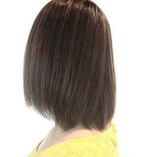 3Dハイライト ラベンダーアッシュ フェミニン ダブルカラー ヘアスタイルや髪型の写真・画像