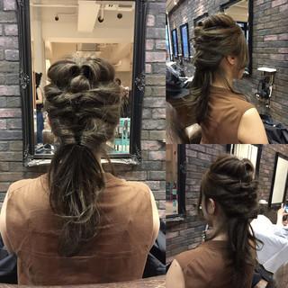 ショート 外国人風 ヘアアレンジ ハーフアップ ヘアスタイルや髪型の写真・画像