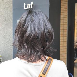くびれボブ フェミニン グレージュ ボブ ヘアスタイルや髪型の写真・画像