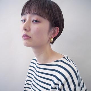 ウェットヘア モード ハンサムショート 黒髪 ヘアスタイルや髪型の写真・画像