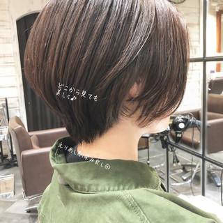 ミニボブ ショートヘア ショートボブ 切りっぱなしボブ ヘアスタイルや髪型の写真・画像