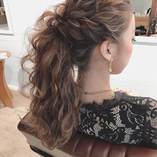 デート 結婚式 セミロング 冬 ヘアスタイルや髪型の写真・画像