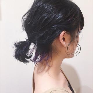 インナーカラー ボブ 大人かわいい 夏 ヘアスタイルや髪型の写真・画像
