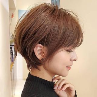ショートヘア ナチュラル ショートボブ 30代 ヘアスタイルや髪型の写真・画像
