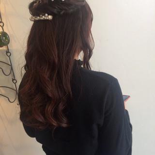 結婚式 デート アンニュイほつれヘア フェミニン ヘアスタイルや髪型の写真・画像