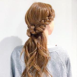 オフィス アンニュイ ロング エレガント ヘアスタイルや髪型の写真・画像