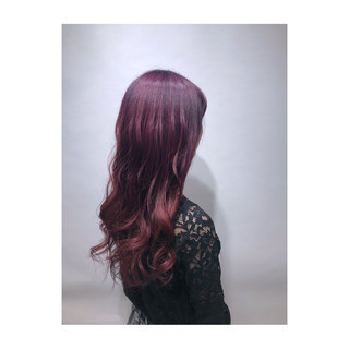 ラベンダー ラベンダーピンク ガーリー ベリーピンク ヘアスタイルや髪型の写真・画像
