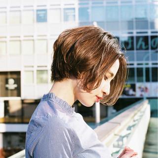 ニュアンス 冬 こなれ感 小顔 ヘアスタイルや髪型の写真・画像