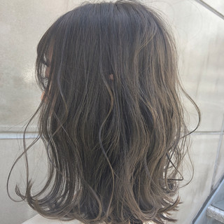 グレージュ エフォートレス 簡単ヘアアレンジ ボブ ヘアスタイルや髪型の写真・画像