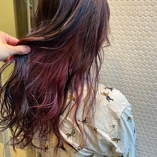 ストリート ピンクパープル ピンクバイオレット アンニュイ ヘアスタイルや髪型の写真・画像