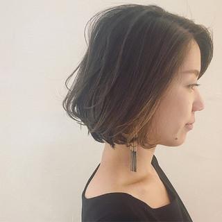 モード 外国人風 ボブ インナーカラー ヘアスタイルや髪型の写真・画像