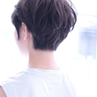 小顔 ショートボブ ストリート マッシュ ヘアスタイルや髪型の写真・画像