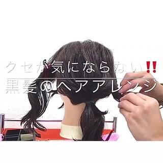 ヘアアレンジ フェミニン ミディアム 女子会 ヘアスタイルや髪型の写真・画像