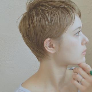 ナチュラル ショート ベリーショート パーマ ヘアスタイルや髪型の写真・画像