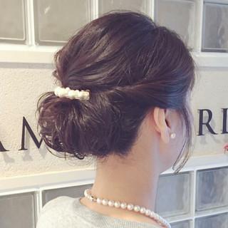 結婚式 簡単ヘアアレンジ パーティ ナチュラル ヘアスタイルや髪型の写真・画像