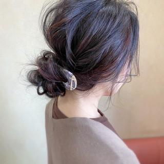 ロング 結婚式 シニヨン お呼ばれ ヘアスタイルや髪型の写真・画像