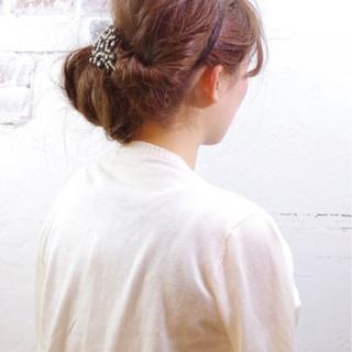 ロング 結婚式 パーティ 簡単ヘアアレンジ ヘアスタイルや髪型の写真・画像