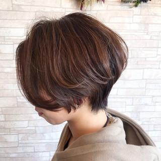 ショートヘア モード デート オフィス ヘアスタイルや髪型の写真・画像