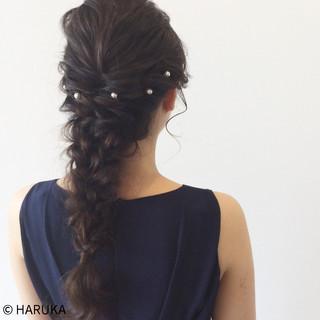 ヘアアレンジ 簡単ヘアアレンジ 編み込み ロング ヘアスタイルや髪型の写真・画像