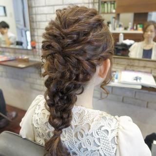ロング ヘアアレンジ ハーフアップ 大人かわいい ヘアスタイルや髪型の写真・画像