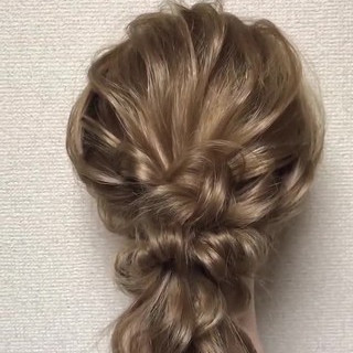 デート ロング 編みおろし ヘアアレンジ ヘアスタイルや髪型の写真・画像