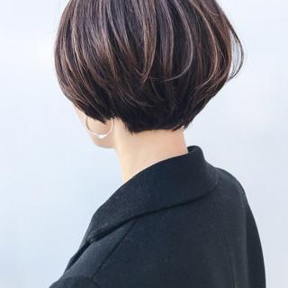 女子力 ショート ショートボブ 大人女子 ヘアスタイルや髪型の写真・画像