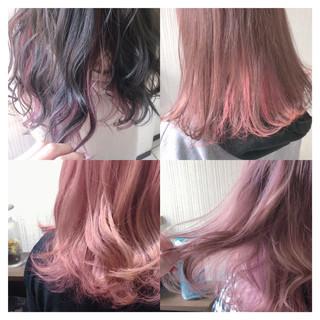 デート ピンク ボブ 大人女子 ヘアスタイルや髪型の写真・画像