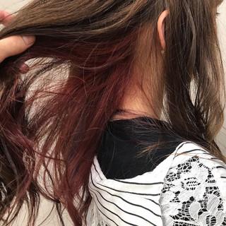 インナーカラー ストリート ハイトーンカラー ヘアアレンジ ヘアスタイルや髪型の写真・画像