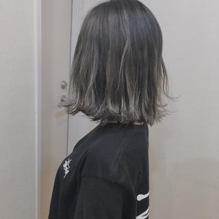 3Dハイライト 大人ハイライト ハイライト バレイヤージュ ヘアスタイルや髪型の写真・画像