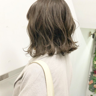 アンニュイほつれヘア ボブ パーマ 切りっぱなし ヘアスタイルや髪型の写真・画像