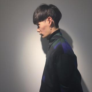 モード マッシュ ショート 黒髪 ヘアスタイルや髪型の写真・画像