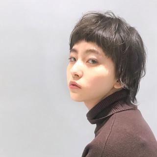 ショート マッシュウルフ パーマ デート ヘアスタイルや髪型の写真・画像
