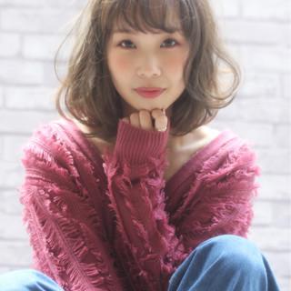 ゆるふわ こなれ感 小顔 フェミニン ヘアスタイルや髪型の写真・画像