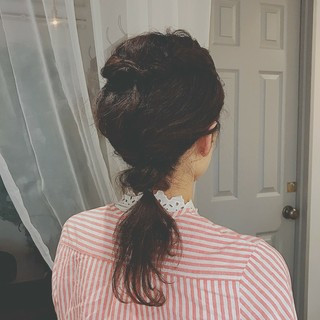 ロング ヘアアレンジ 涼しげ 大人かわいい ヘアスタイルや髪型の写真・画像