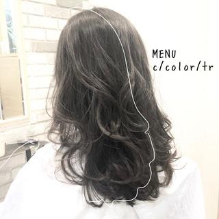 ストレート 髪質改善 縮毛矯正 セミロング ヘアスタイルや髪型の写真・画像