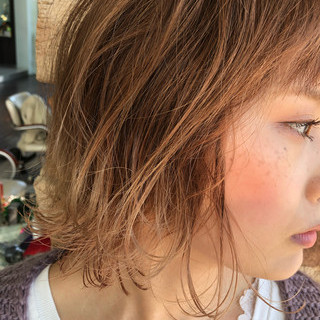 ボブ フェミニン エフォートレス ヘアアレンジ ヘアスタイルや髪型の写真・画像