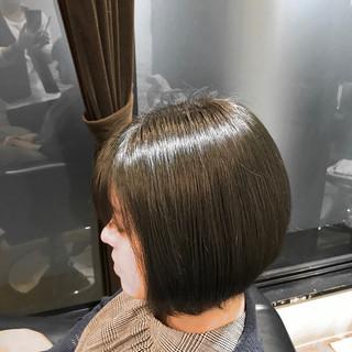ブルージュ コンサバ ボブ ショートヘア ヘアスタイルや髪型の写真・画像