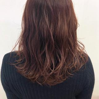 外国人風カラー セミロング 透け感 ナチュラル ヘアスタイルや髪型の写真・画像