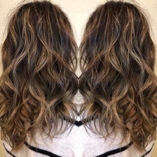 外国人風カラー 透明感カラー 透け感ヘア バレイヤージュ ヘアスタイルや髪型の写真・画像