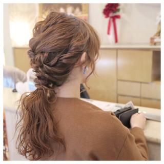ゆるふわ フェミニン ヘアアレンジ ロング ヘアスタイルや髪型の写真・画像