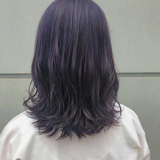 ダークトーン ミディアム ウルフカット ブリーチ ヘアスタイルや髪型の写真・画像