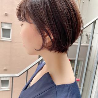 ショートヘア 大人かわいい オフィス ショートボブ ヘアスタイルや髪型の写真・画像