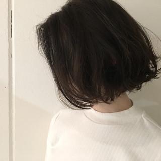 暗髪 アッシュ ボブ 外国人風 ヘアスタイルや髪型の写真・画像