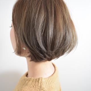 ブラウン ナチュラル ショートボブ 外国人風 ヘアスタイルや髪型の写真・画像