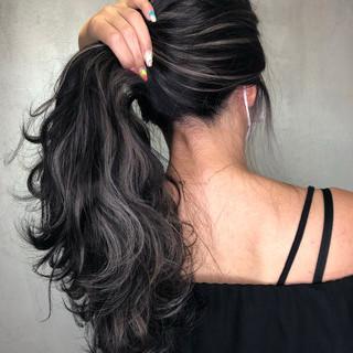 外国人風カラー ハイライト 大人ハイライト ナチュラル ヘアスタイルや髪型の写真・画像