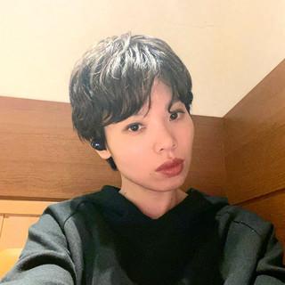 ショートヘア 外国人風 モード ショートパーマ ヘアスタイルや髪型の写真・画像