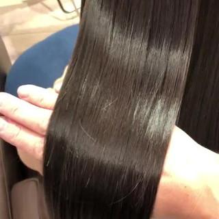 フェミニン セミロング ツヤ髪 ヘアカラー ヘアスタイルや髪型の写真・画像