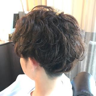 ナチュラル ショート くせ毛 ヘアスタイルや髪型の写真・画像