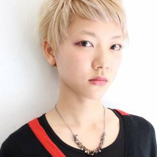 ストリート ショート 外国人風 ウェットヘア ヘアスタイルや髪型の写真・画像